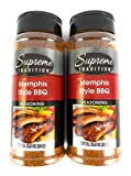 BBQ Seasoning - Supreme Tradition Grill Seasoning (Formerly Blazin Blends) (Memphis Style BBQ, Pack of 2)