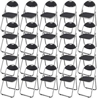 GRATES 折りたたみパイプ椅子 ダークグレー 20脚セット