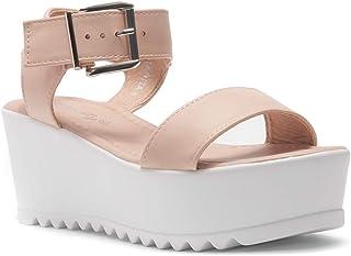 fdaf156564 Herstyle Carita Women's Open Toe Ankle Strap Platform Wedge Sandals