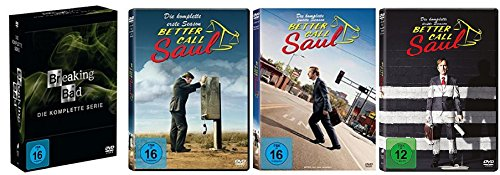 Breaking Bad Box - Die komplette Serie + Better Call Saul - Staffel 1-3