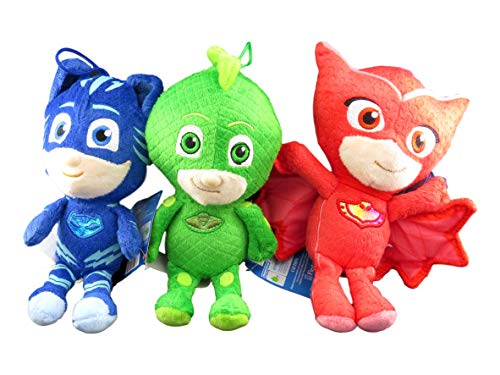 Fiesta Toys PJ Masks Gekko Owlette Catboy 8' Tall Plush Doll Assortment (3 Peices Set)