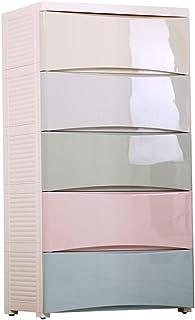 Xhtoe Penderies Repliables Plastique tiroirs Commode for Les vêtements 5 tiroirs Commode Armoire de Rangement Placard pour...