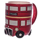 Papillon 3D-Tasse, Design Routemaster London-Bus, Rot, Geschenkidee
