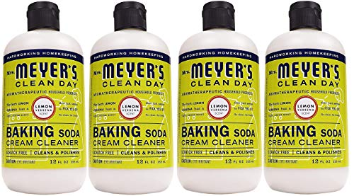 Mrs. Meyer's Baking Soda Cream Cleaner, Lemon Verbena, 12 OZ (Pack - 4,Count,4)