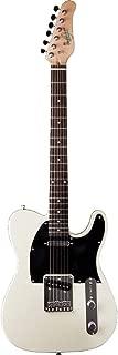 Oscar Schmidt 6 String Single Cutaway Electric Guitar. Ivory, Right (OS-LT-IV-A)