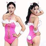 Bunny Cosplay Kostüm Sexy Outfit Für Frauen Sexy Rollenspiel Kaninchen Spielanzug Set Mit Weißem Pelzigen Kugelschwanz