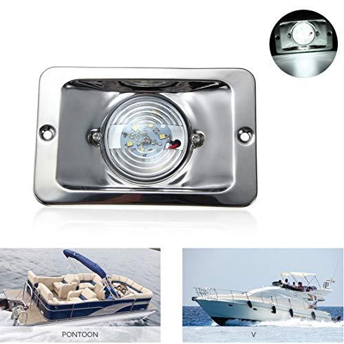 VIGORFLYRUN PARTS LTD 1pc LED Luz de Navegación Luces de señal Luces LED Lado Puerto Lateral Estribor para 12V Marina Barco Yate Boote - Blanco