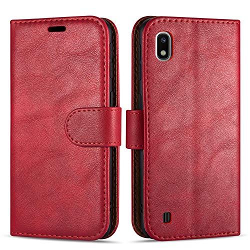 """Case Collection Custodia per Samsung Galaxy A10 Cover (6,2"""") a Libretto in Pelle di qualità Superiore con Slot per Carte di Credito per Samsung Galaxy A10 Custodia"""