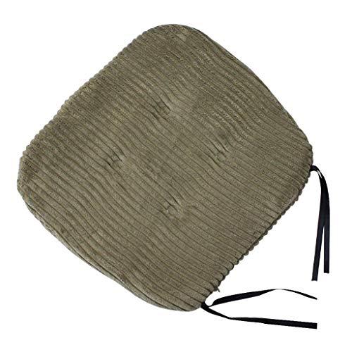 PETSOLA 40 cm, Streifenkissen, Weiches Sitzkissen, Innen Zum Binden Auf Bürostuhlkissen - Dunkelgrün