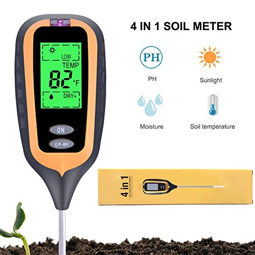 Buy Cheap DZSF Soil PH Moisture Meter Light Plant Earth Soil Thermometer Temperature Tester Sunlight...