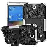 XITODA Funda para Samsung Galaxy Tab 4 7.0, Hybrid TPU Silicone & Duro PC Protección Cover para Samsung Galaxy Tab 4 7.0 Pulgadas SM-T230/T231/T235 Tablet Case Funda con Kickstand/Stand - Blanco