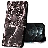 MRSTER Xiaomi Redmi 7A Hülle Leder, Langlebig Leichtes Klassisches Design Flip Wallet Hülle PU-Leder Schutzhülle Brieftasche Handyhülle für Xiaomi Redmi 7A. YI White Tiger