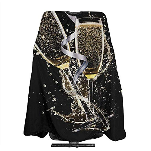 Salon Cape Cheers Lint Glas Van Champagne Kapsel Schort Vrouwen Waterdichte Huidvriendelijke Volwassenen Kappers Cape Haar Snijden Doek Mannen