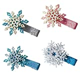 VALICLUD Snowflake Hair Clips Christmas Glitter Snowflake Bobby Pins Hair Barrettes for Women Girls...