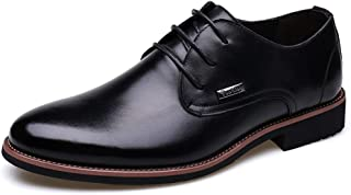 [XYJP] ビジネスシューズ メンズ ブラウン カジュアルシューズ おしゃれ 革靴 紳士 父の日 ローカット レースアップ ラウンドトゥ 男性 黒 革靴 ロンドン 23.5cm-27.0cm オックスフォードシューズ 無地 宴会 会社 クラシック PUレザー