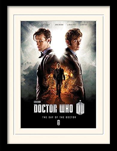 1art1 Doctor Who - Day of The Doctor Gerahmtes Bild Mit Edlem Passepartout | Wand-Bilder | Kunstdruck Poster Im Bilderrahmen 40 x 30 cm