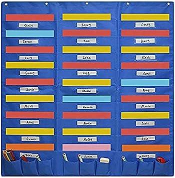 ZYZZ Carpetas de Archivos montadas en la Pared Carpeta organizadora de Archivos de Pared con organigrama de Bolsillo de Centro de organización de Alta Capacidad para Office Home School Studio