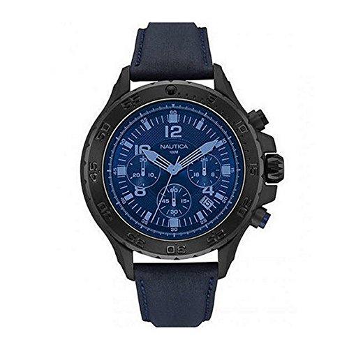 Nautica Herren Analog Quarz Uhr mit Textil Armband NAI21008G