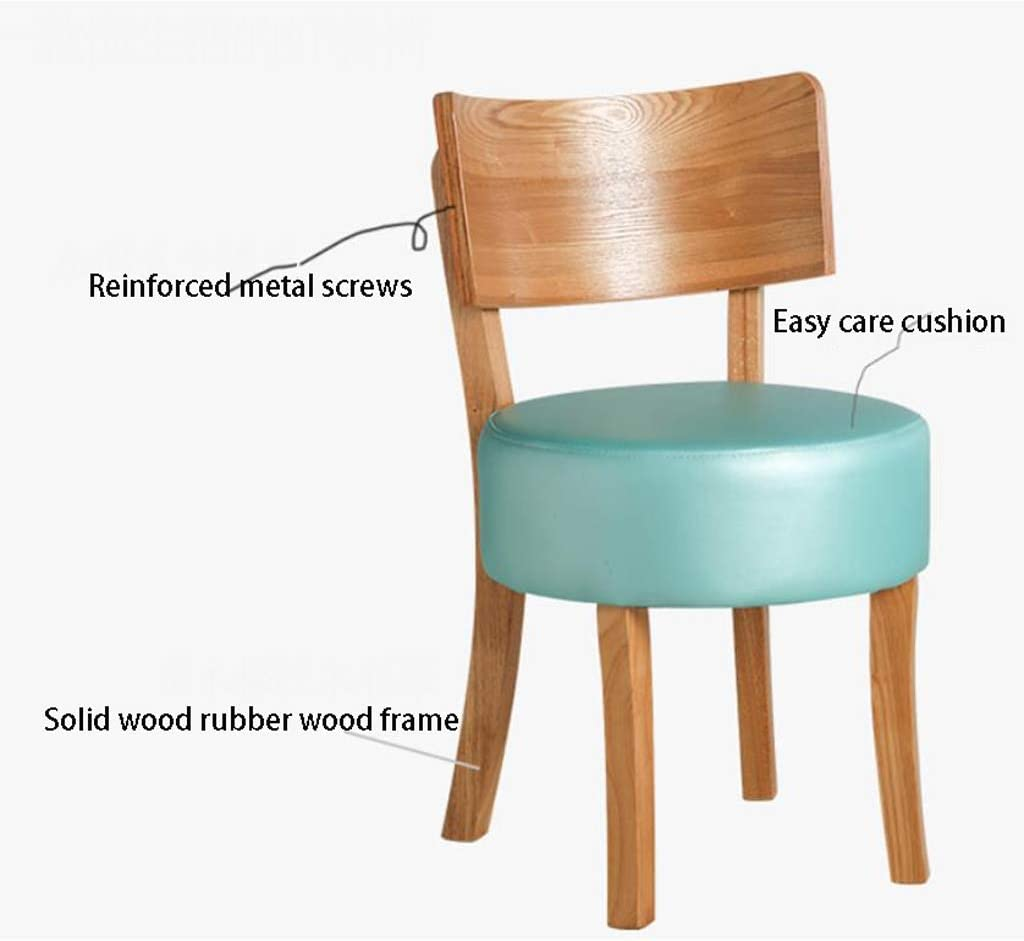 Robuste Simple chaise bureau étudiant et chaise de maquillage tabouret retour à la maison à manger chaise d'ordinateur Spacieux (Color : Rice color) Dark Green