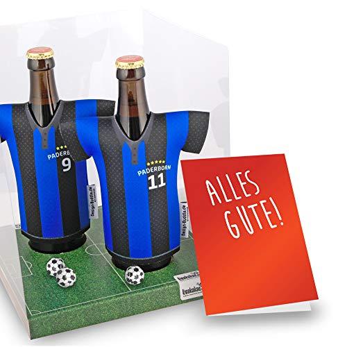Der Trikotkühler   Das Männergeschenk für Paderborn-Fans   Langlebige Geschenkidee Ehe-Mann Freund Vater Geburtstag   Bier-Flaschenkühler by Ligakakao