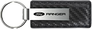 Au-Tomotive Gold, INC. Ford Ranger Gun Metal Carbon Fiber Leather Key Chain