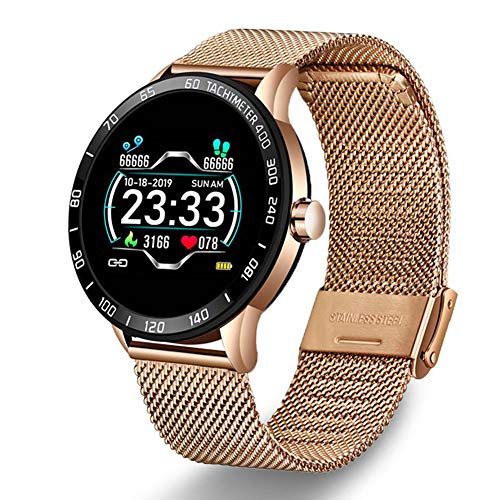 LIGE Smart Watch with Heart Rate Monitor Blood Pressure Sleep Monitor Fitness Bracelet IP68 Waterproof Step Tracker Calorie Counter Activity Tracker Watch with Mesh for Men Women Kids
