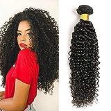 pelo humano rizado natural pelo humano brasileño cabello virgen brasileño extensiones de cabello color negro natural (100 +/-5g)/ pc 26 pulgadas