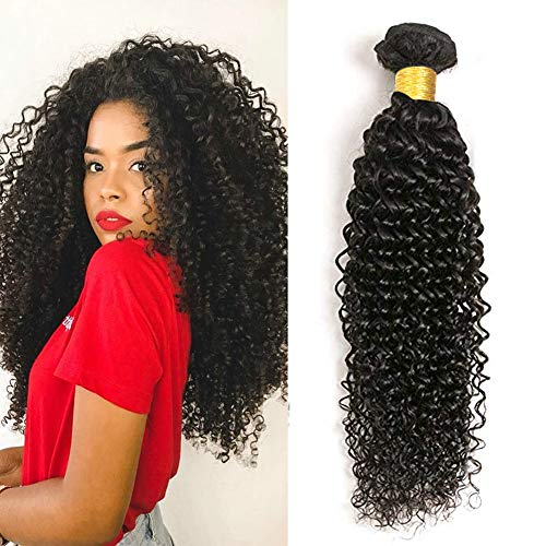 UR Beautiful 8A Curly Human Hair Bundles brasilianisches Haar 100% Curly Brazilian Hair Kinky Curly Hair menschliches Haar Natural Black Color 18 inch (95+/-5g/pc)