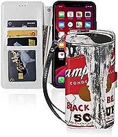 Iphone 11 ケース アンディ ウォーホル スープ缶 (11/11pro/11pro Max) Iphone11 カバー 手帳型 カード収納 ポケット付き 軽量 Puレザー 【衝撃吸収 全面保護 角度調節 横置きスタンド機能】 おしゃれ かわいい シンプル アイホン11 アイフォン11