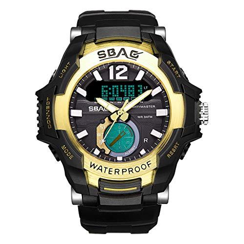 Orologio digitale uomo,SBAO TTMall Orologio Orologio sportivo Fitness Tracker Luminoso Quadrante professionale impermeabile impermeabile sport orologio con cronometro