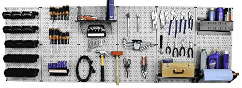 Wall Control 30-WRK-800GB Master Workbench Metal Pegboard Tool Organizer,Gray/Black