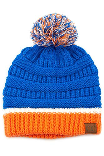 ScarvesMe Exclusive University College School Team Color Pom Pom Skully Beanie Hat Cap