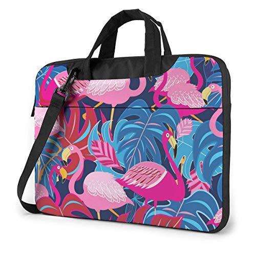 Bright Tropical Flam-ingo Fashion Laptop Case Laptop Shoulder Messenger Bag Funda para 13 a 15.6 Pulgadas