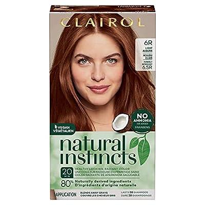 Clairol Natural Instincts Semi-Permanent, 6R Light Auburn, 1 Count