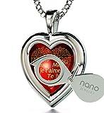 Nano Jewellery Mujer Plata de ley (925/1000) plata corte heart rojo circonita