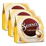 Senseo Kaffeepads Café Latte, Aromatischer Kaffee mit Cremig-milchigem Geschmack, Milchkaffee 3 x 8 Pads