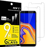 NEW'C Lot de 2, Verre Trempé Compatible avec Samsung Galaxy J4 Plus, Galaxy J4+ (SM-J415F), Film...