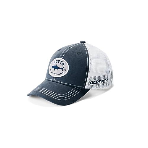 c3fd20d4c98cc Costa Del Mar Ocearch Nantucket Trucker Hat Navy OS-W2