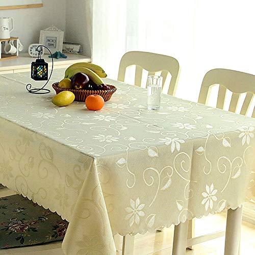 FJPTREN Tischdecke Ornamente Seidenglanz Schmutzabweisend Abwaschbare Tischdecken Familie Festliches Abendessen 100% Polyester Hohe Faser