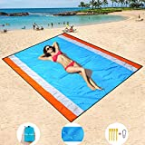 "Mumu Sugar Sand Free Beach Mat Oversized 82""x79"" Sand Proof Beach Blanket Outdoor Picnic Mat for Travel, Camping, Hiking and Music Festivals-Lightweight Quick Drying Heat Resistant"
