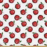 ABAKUHAUS Apfel Stoff als Meterware, Cartoon Bio-Frucht,