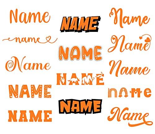 Bügelbilder für Textilien Kinder Bügelbild Name Wunschtext selbst bedrucken. Bügelbilder selbst gestalten. Wunschname Namensaufkleber Kleidung. Bügelfolie für Textilien. Namen zum aufbügeln.