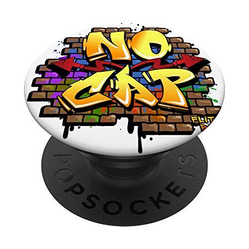Flite Boi - Graffiti Lustiger Humor - Keine Kappe PopSockets PopGrip: Ausziehbarer Sockel und Griff für Handys/Tablets mit Tauschbarem Top