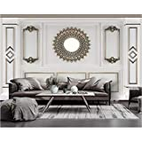 Papiers peints décor à la maison moderne crêpe de soie classique stéréo papier peint 3d art nordique or...