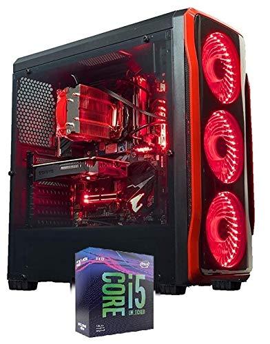 PC Mid Gaming Desktop Intel i5 9400 UP 4,10 GHZ/Nvidia GTX 1650 4 GB / RAM 16 GB DDR4 / SSD 480 GB / HD 1 TB / Wi-Fi USB 3.0 HDMI / Windows 10 Pro Esd / Ordenador para oficina casa de juegos