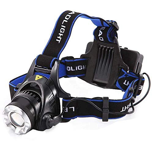 Smitex Best Super Bright Headlamp Light | Rechargeable Head Torch | Hands Free Head Flashlight LED Lmap Water Resistant Drop Resistant Head Lamp Spotlight for Camping Fishing Running Cycling