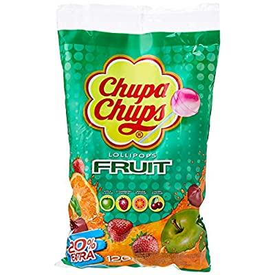 chupa chups fruity lollipops, 120 Chupa Chups Fruity Lollipops Sharing Bag, (Pack of 120) 51n6aGXvXFL
