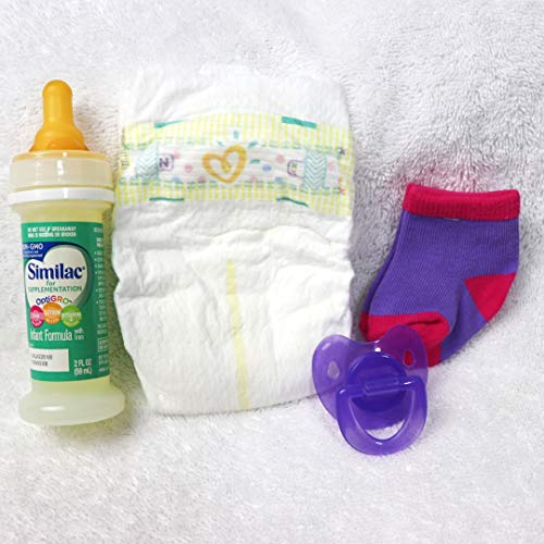 Check Out This Reborn Baby Doll Girls Modified Putty Pacifier Fake Formula Milk Bottle Diaper Socks ...