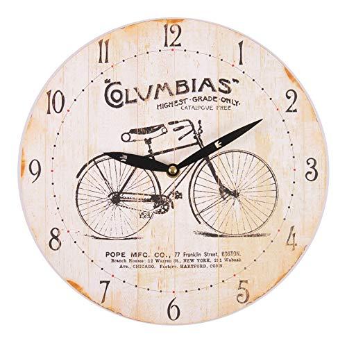 Unbekannt Wanduhr Retrodesign Wohnzimmeruhr Küchenuhr Quarzuhr Uhr 29cm Vintage Fahrrad