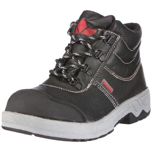 Lico Worker Herren Stiefel geprägtes Leder EU 38 schwarz/schwarz/grau/rot